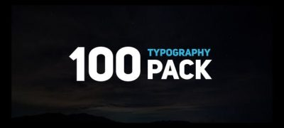 100 Typography Slides