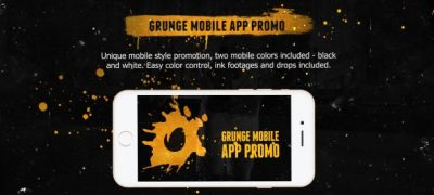 Grunge Mobile App Promo