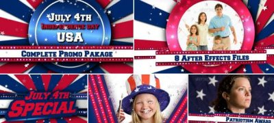 July 4th US Patriotic Broadcast Promo Pack