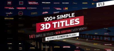 100+ Simple 3D Titles V1.3