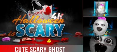 Funny Scary Ghost Logo Intro