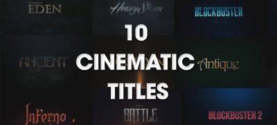 10 Cinematic Titles