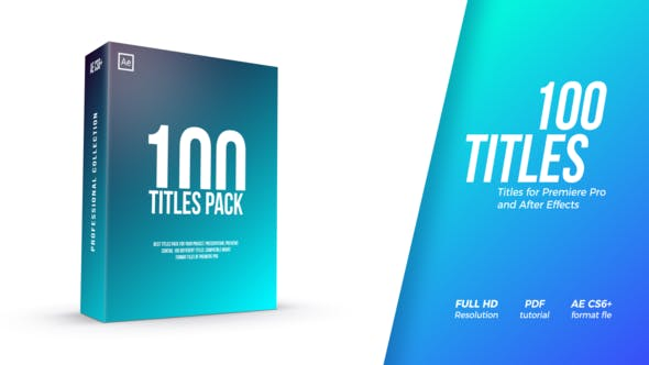 After Effects Projects | Download Titles Pack - FREE