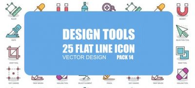Design Tools - Flat Animation Icons