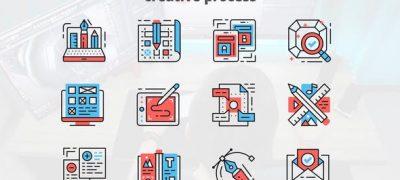 Creative Process – Thin Line Icons