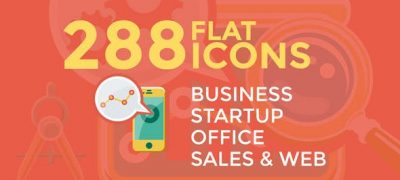 Business & Startup Flat Icons