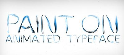 Paint On Animated Typeface