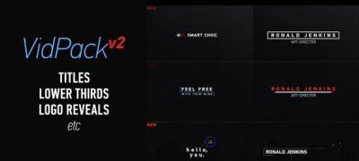 VidPack v2   Titles, Lower Thirds, Logo Reveals etc