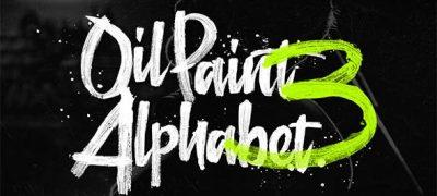 Oil Paint Alphabet 3