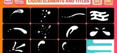 Liquid Shapes And Titles