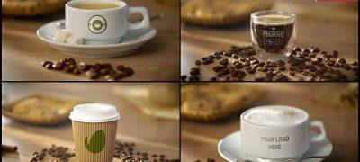 Coffee AE Mockup   Espresso Americano Cappuccino Coffee to Go