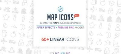 Map Linear Icon Pack