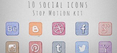 Social Icons Stop Motion Kit