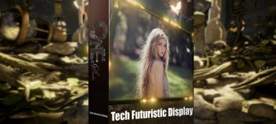 Tech Futuristic Display
