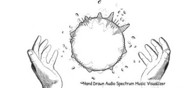 Hand Drawn Audio Spectrum Music Visualizer