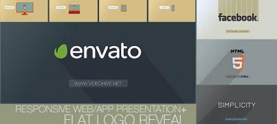 Flat Logo - Responsive Design Corporate App