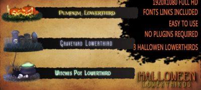Halloween Lower Thirds