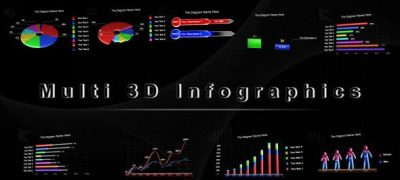 Multi 3D Infographics