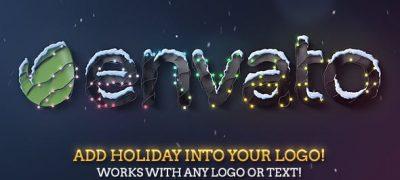 Christmas & New Year Lights Elegant Logo