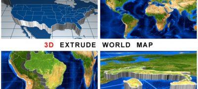 3D Extrude World Map