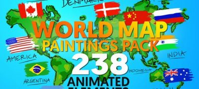 World Map Paintings Pack