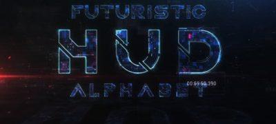 Futuristic HUD Alphabet