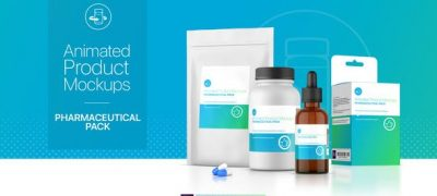 Animated Product Mockups - Pharmaceutical Pack