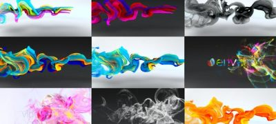 Colorful Particles Flowing Logo