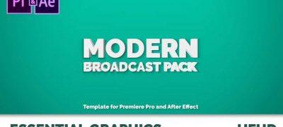 Modern Broadcast Pack   Essential Graphics   Mogrt