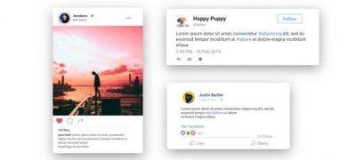 Facebook Twitter Instagram - Animated Posts