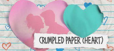 Crumpled Paper (Heart)