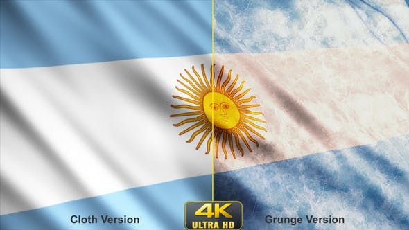 VideoHive – Argentina Flags – 24630497