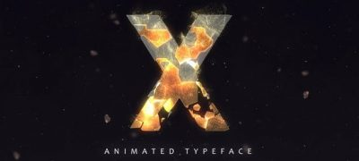 Fracture Titles - Animated Typeface
