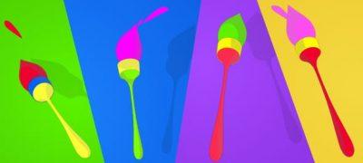 Playful Brush logo