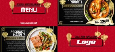Asian Menu - Restaurant Promo