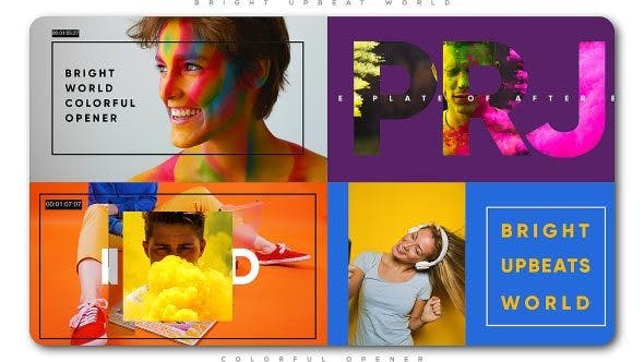 Download Bright Upbeat World Colorful Opener - FREE Videohive