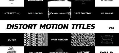 Distort Motion Titles