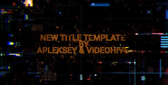 Download Digital Glitch Titles - FREE Videohive