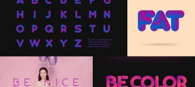 Be Nice — Stretchy Font