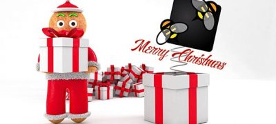 Christmas Greeting With Gingerbread