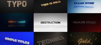 Titles - Unique Element 3D Scenes