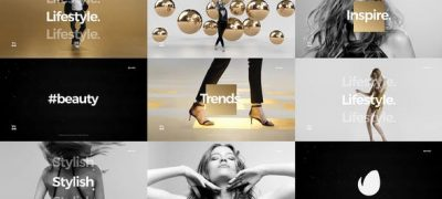 Short Fashion Stomp / Fast Clean Opener / Dynamic Typography / Youtube Channel