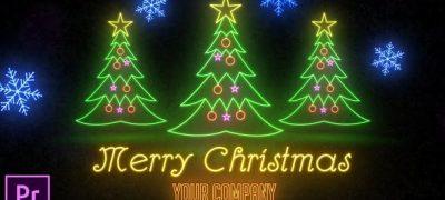 Neon Light Christmas - Premiere Pro
