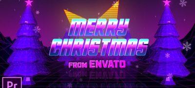 Retro 80s Christmas Wishes - Premiere Pro