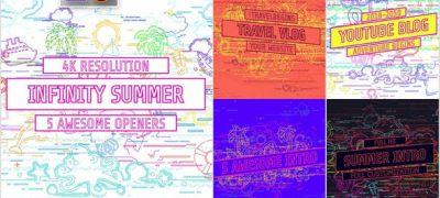Youtube/ Infinity Summer Openers/ Social Media/ Line Icons/ Cartoon/ Music Dance Party/ IGTV/ Event