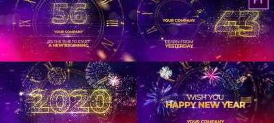 New Year Countdown 2020 Premiere Pro