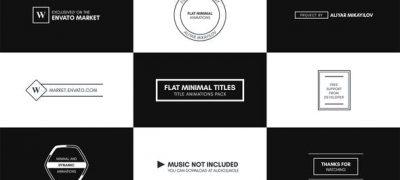Flat Minimal Titles - Essential Graphics | Mogrt