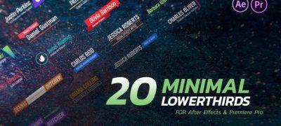 Minimal Lower Thirds Pack