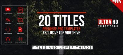 Modern Minimal Titles For Premiere Pro