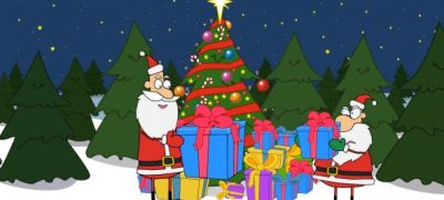 Santa is Opening a Present